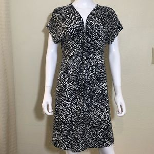 Diane Von Furstenberg Dress V-Neck Black & White